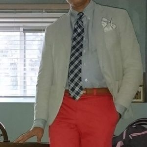 Riveria Red Cotton Sportcoat Unlined